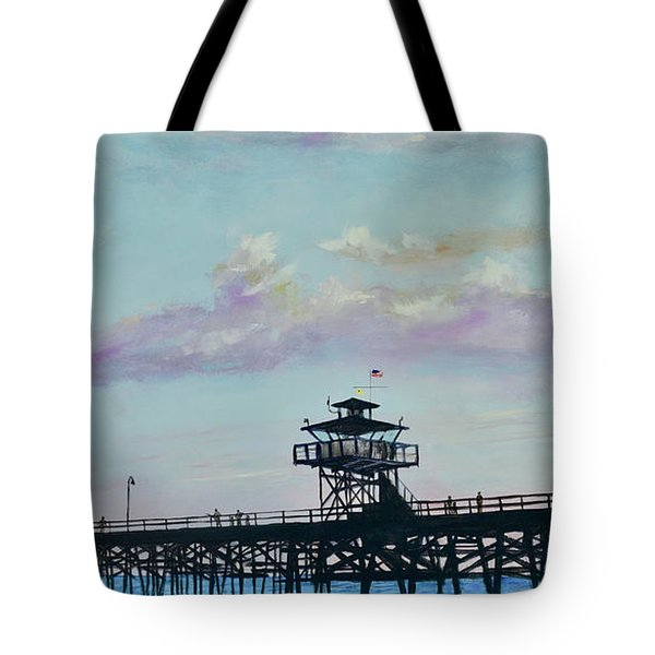 Tote Bag featuring the painting San Clemente Evening by Mary Scott