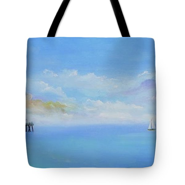 Tote Bag featuring the painting San Clemente Sail by Mary Scott