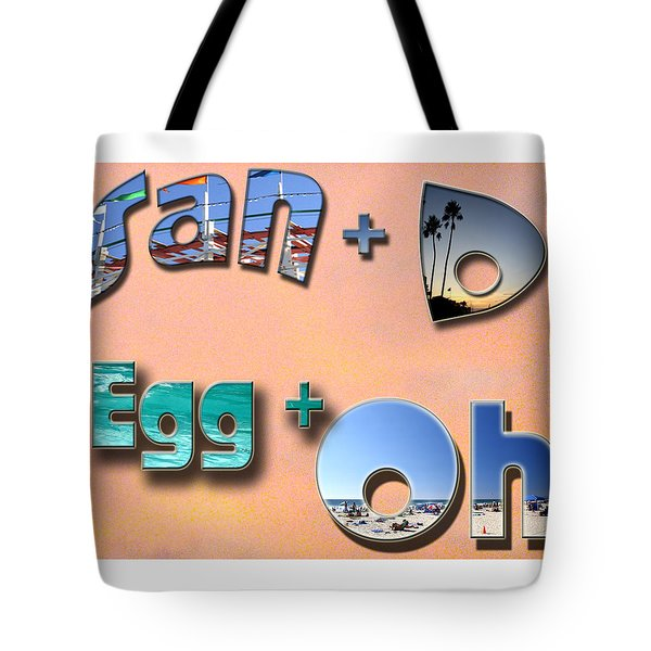 San D Egg Oh Tote Bag by Christopher Woods