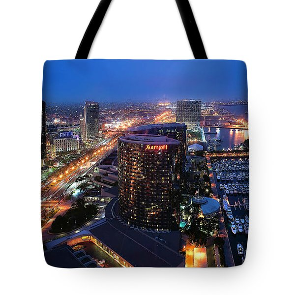 Tote Bag featuring the photograph San Diego Bay by Lynn Geoffroy