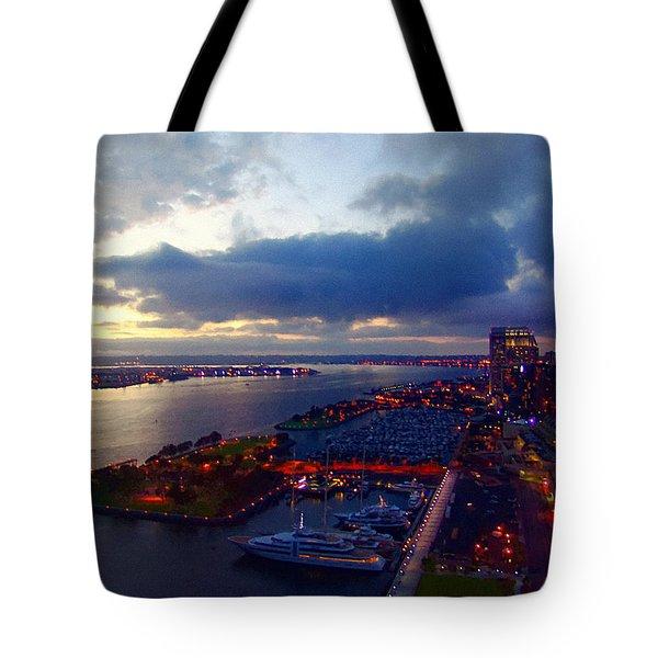 San Diego By Night Tote Bag