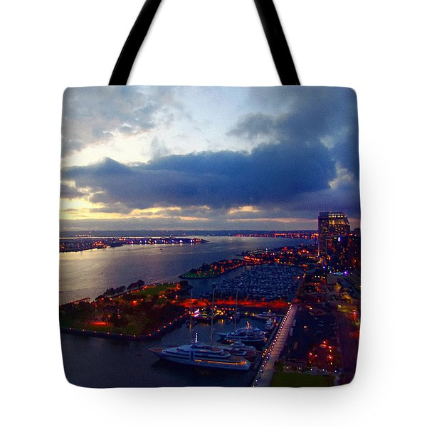 San Diego By Night Tote Bag
