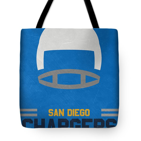 San Diego Chargers Vintage Art Tote Bag by Joe Hamilton