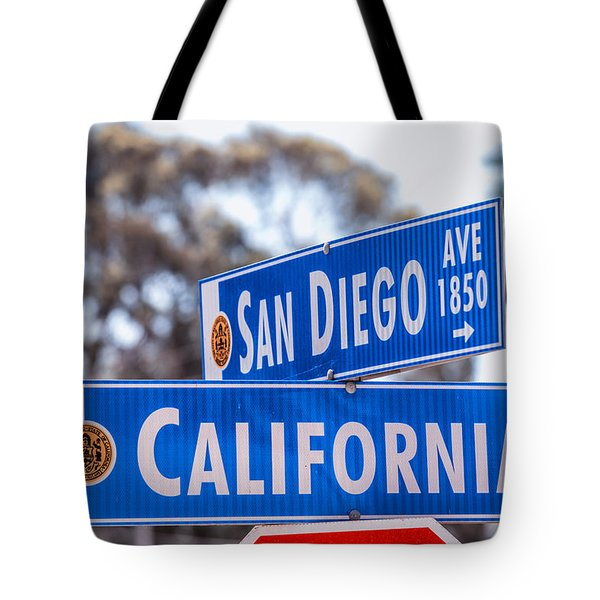 San Diego Crossing Over California Tote Bag by Joseph S Giacalone