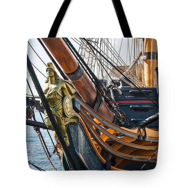 San Diego Embarcadero - Hms Surprise Figurehead Tote Bag