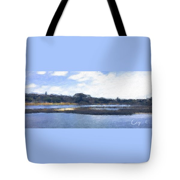 Tote Bag featuring the painting San Diego Famosa Slough by Jan Cipolla