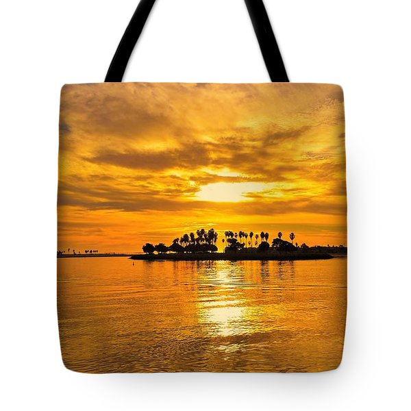 San Diego Golden Sky By Jasna Gopic Tote Bag by Jasna Gopic