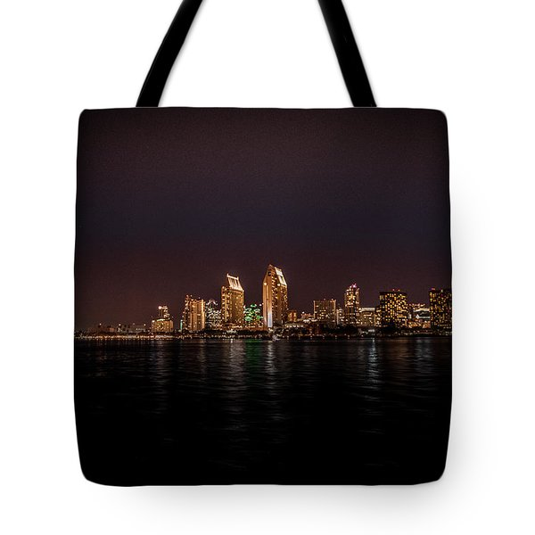 Tote Bag featuring the photograph San Diego Harbor by John Johnson