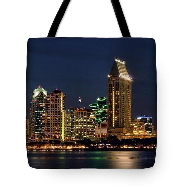 San Diego Night Tote Bag