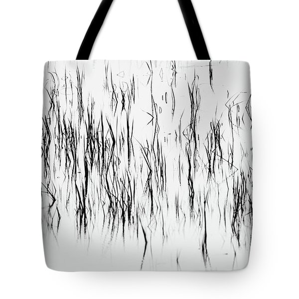 San Diego River Grass In Black And White Tote Bag