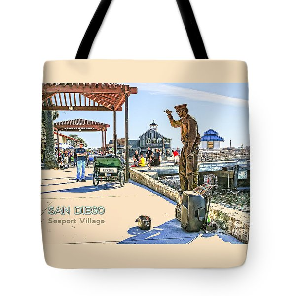 San Diego - Seaport Village Scene Tote Bag