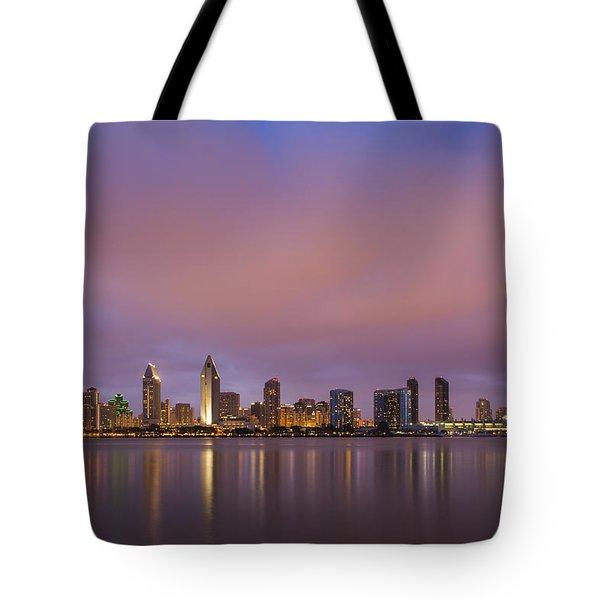 San Diego Skyline Tote Bag