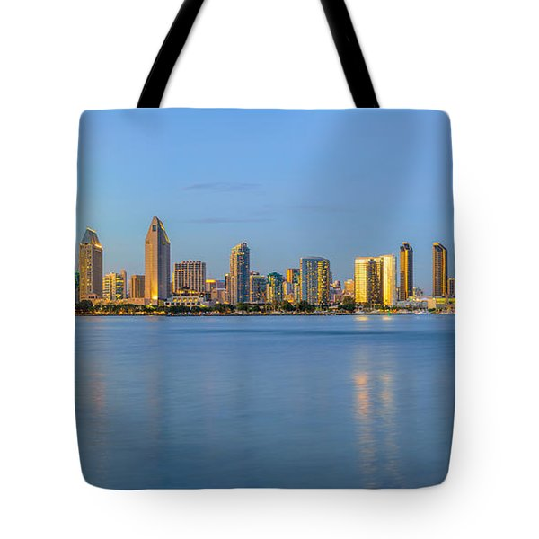 San Diego Skyline At Dusk Tote Bag