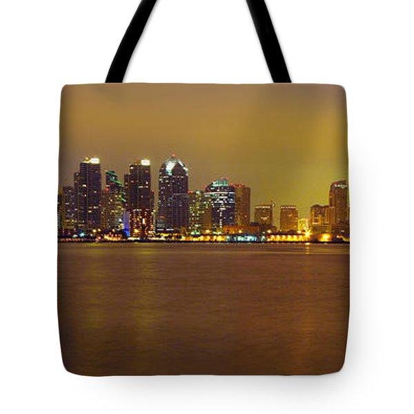 San Diego Skyline California Tote Bag by Wernher Krutein