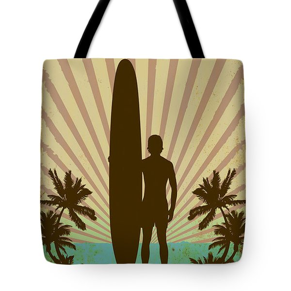 Tote Bag featuring the digital art San Diego Surf Club by Greg Sharpe