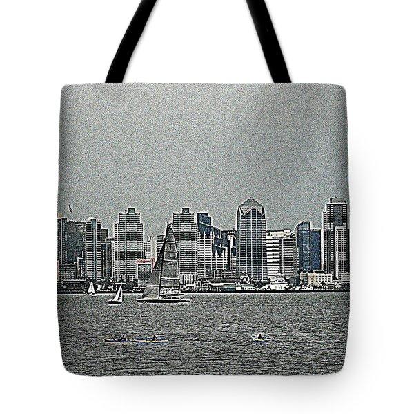 San Diego Waterfront Tote Bag
