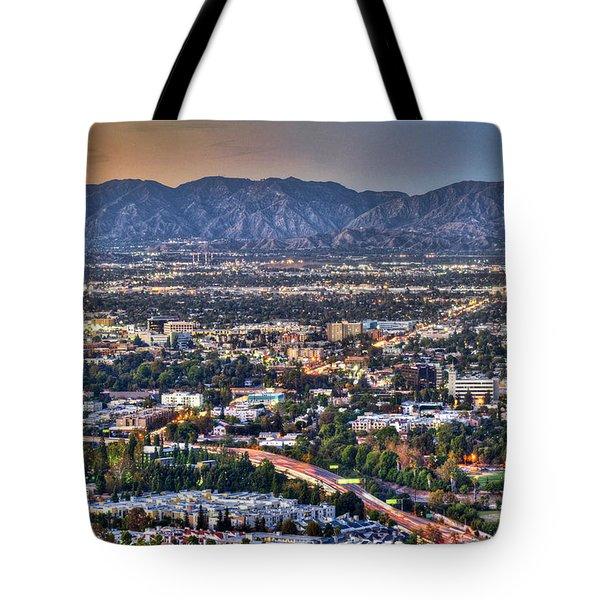San Fernando Valley Vertical Tote Bag by David Zanzinger