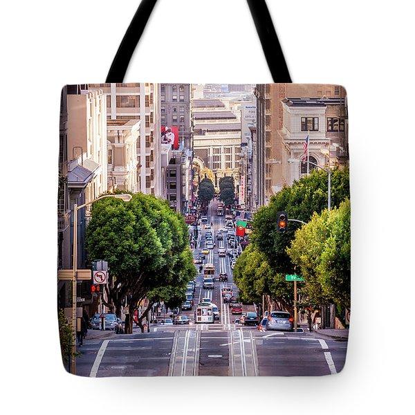 San Fran Cable Car Tote Bag