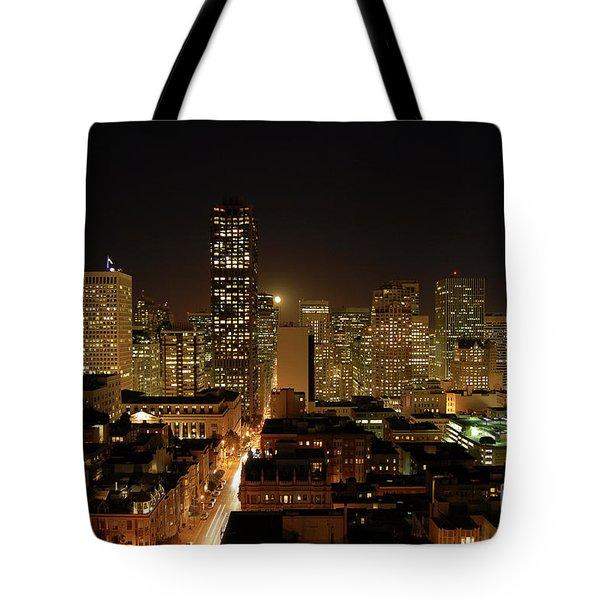 San Francisco At Night Tote Bag