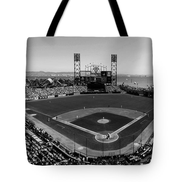 San Francisco Ballpark Bw Tote Bag