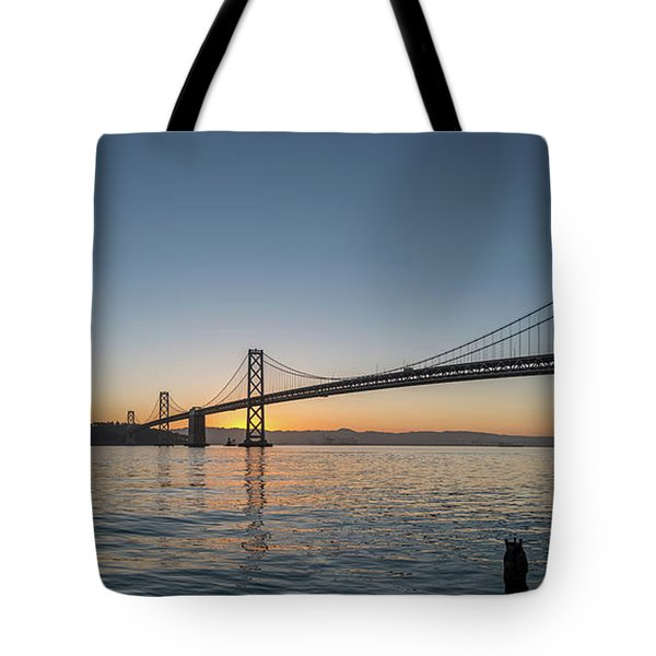 San Francisco Bay Brdige Just Before Sunrise Tote Bag