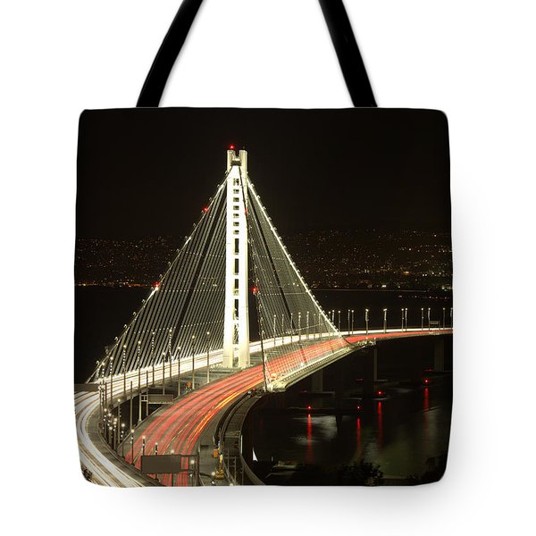 Tote Bag featuring the photograph San Francisco Bay Bridge New East Span by John King