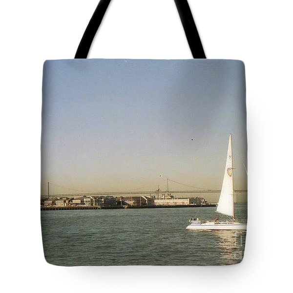 San Francisco Bay Sail Boat Tote Bag