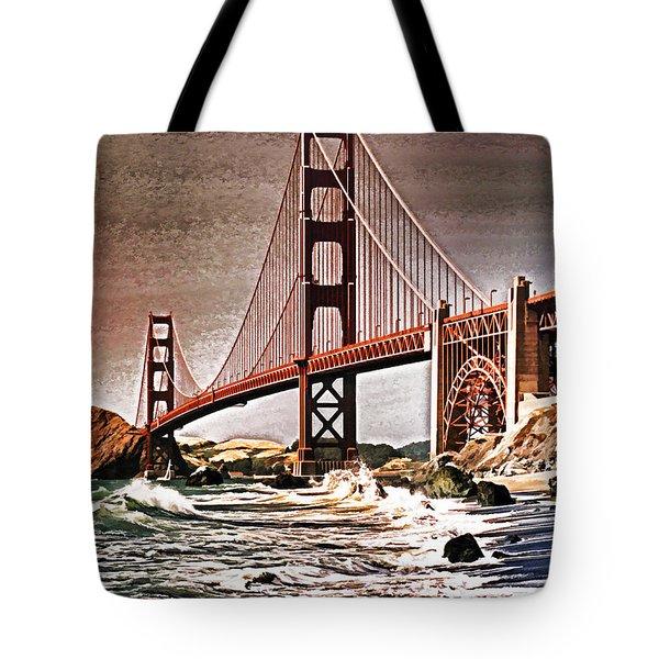San Francisco Bridge View Tote Bag by Dennis Cox WorldViews