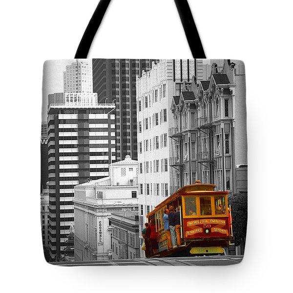 San Francisco Cable Car - Highlight Photo Tote Bag