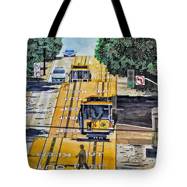 San Francisco Cable Cars Tote Bag