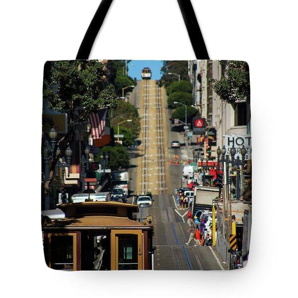 San Francisco Cable Cars Tote Bag