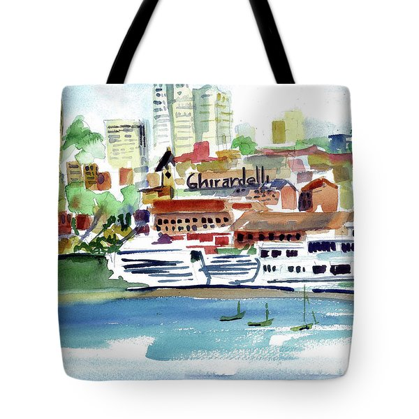 San Francisco Cityfront From Aquatic Park Tote Bag