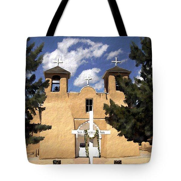 San Francisco De Asis Tote Bag by Kurt Van Wagner