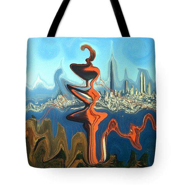 San Francisco Earthquake - Modern Art Tote Bag