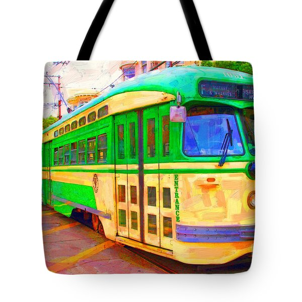 San Francisco F-line Trolley Tote Bag
