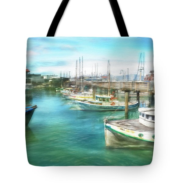 San Francisco Fishing Boats Tote Bag by Michael Cleere