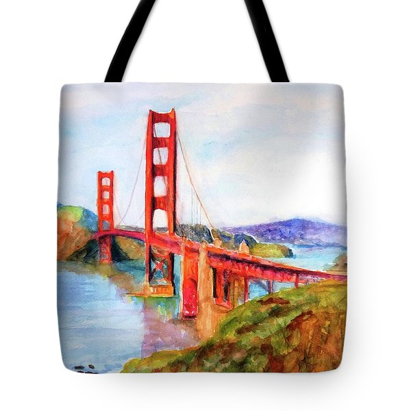 San Francisco Golden Gate Bridge Impressionism Tote Bag