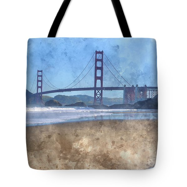 San Francisco Golden Gate Bridge In California Tote Bag