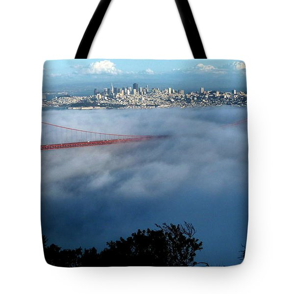 San Francisco Golden Gate Bridge Panoramic  Tote Bag