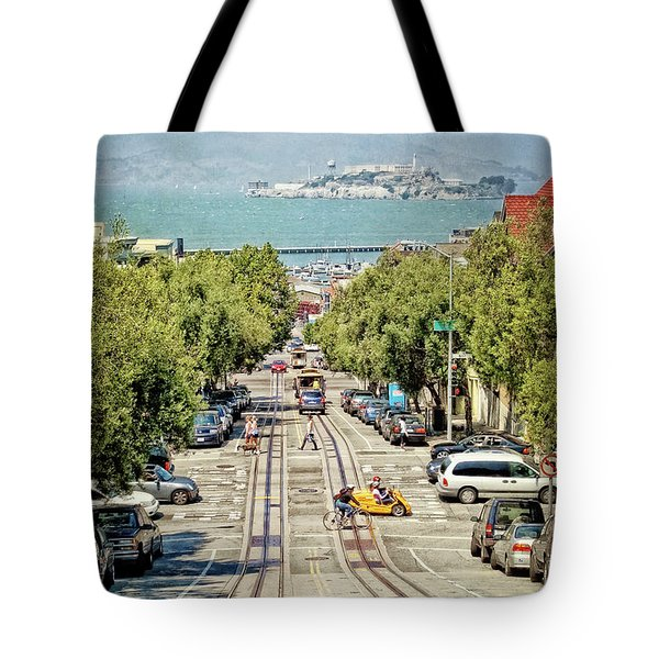 San Francisco Hyde Street View Tote Bag