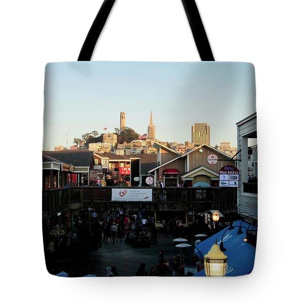 San Francisco In The Sun Tote Bag