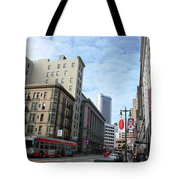 San Francisco - Jessie Street View Tote Bag by Matt Harang
