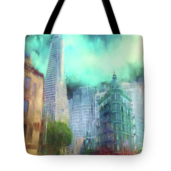San Francisco Tote Bag by Michael Cleere