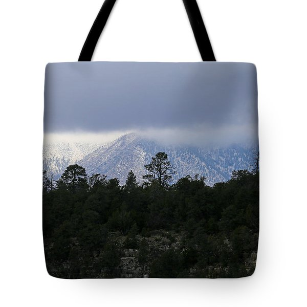 San Francisco Mountains From Walnut Canyon Tote Bag