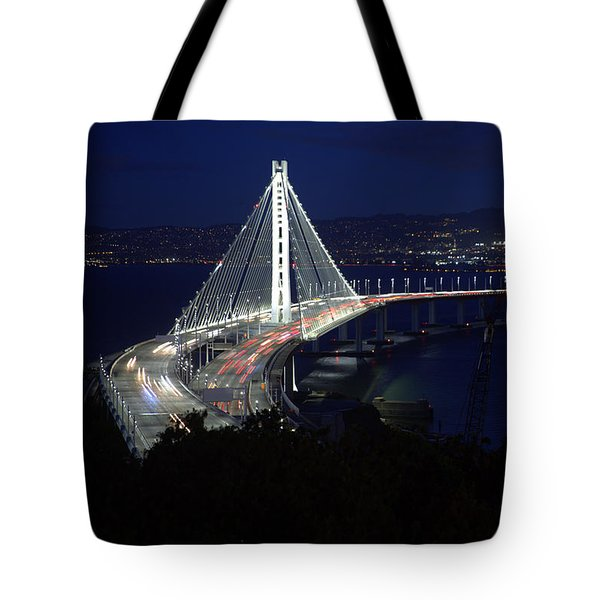Tote Bag featuring the photograph San Francisco Oakland Bay Bridge by John King