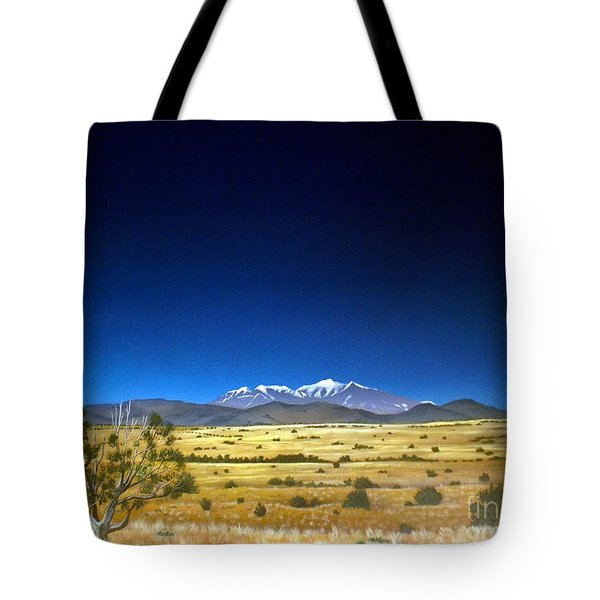 San Francisco Peaks Tote Bag by Jerry Bokowski