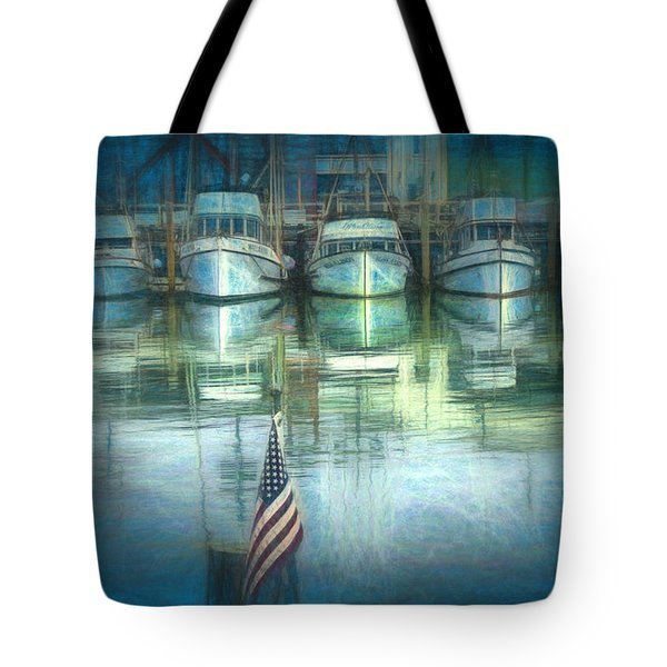 San Francisco Pier Tote Bag by Michael Cleere