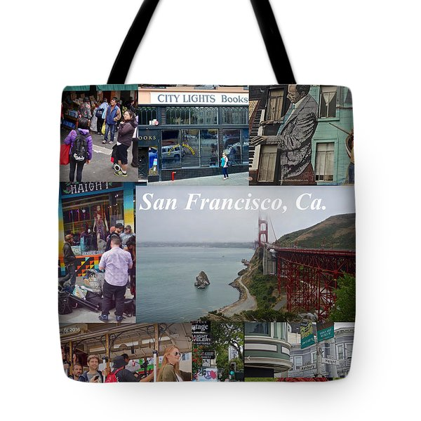 Tote Bag featuring the photograph San Francisco Poster by Joan Reese