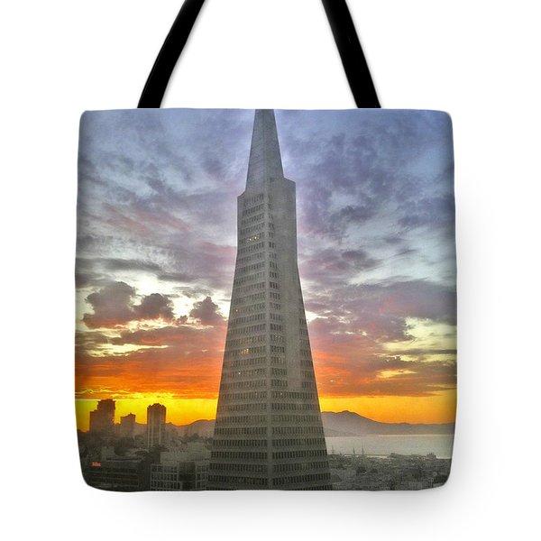 San Francisco Pyramid Tote Bag