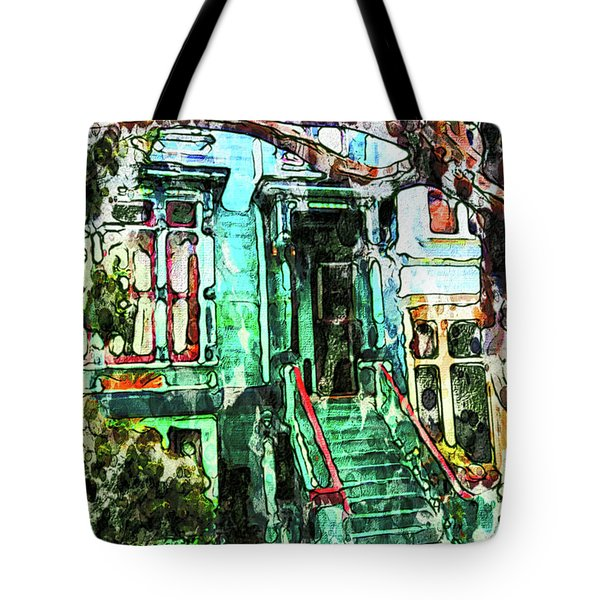 San Francisco Victorian Tote Bag